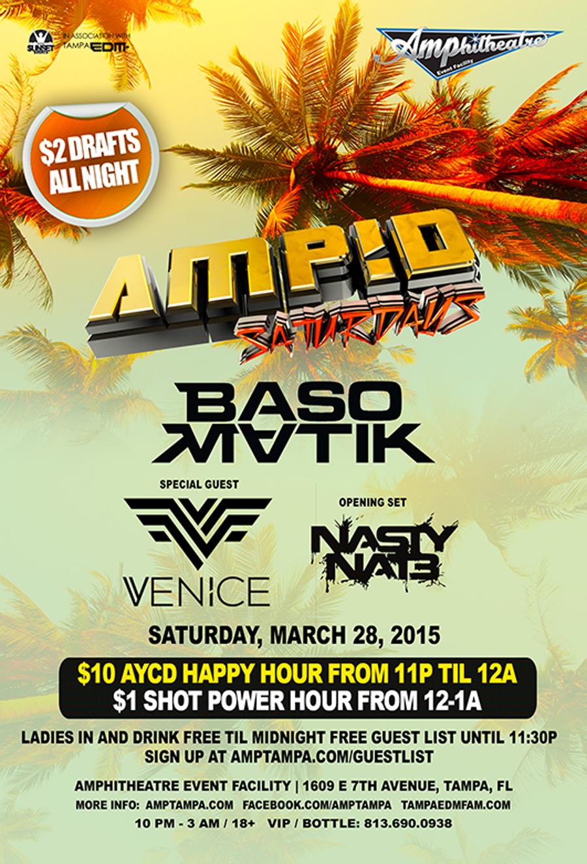 VENICE at AMP!D Saturdays 3/28/15