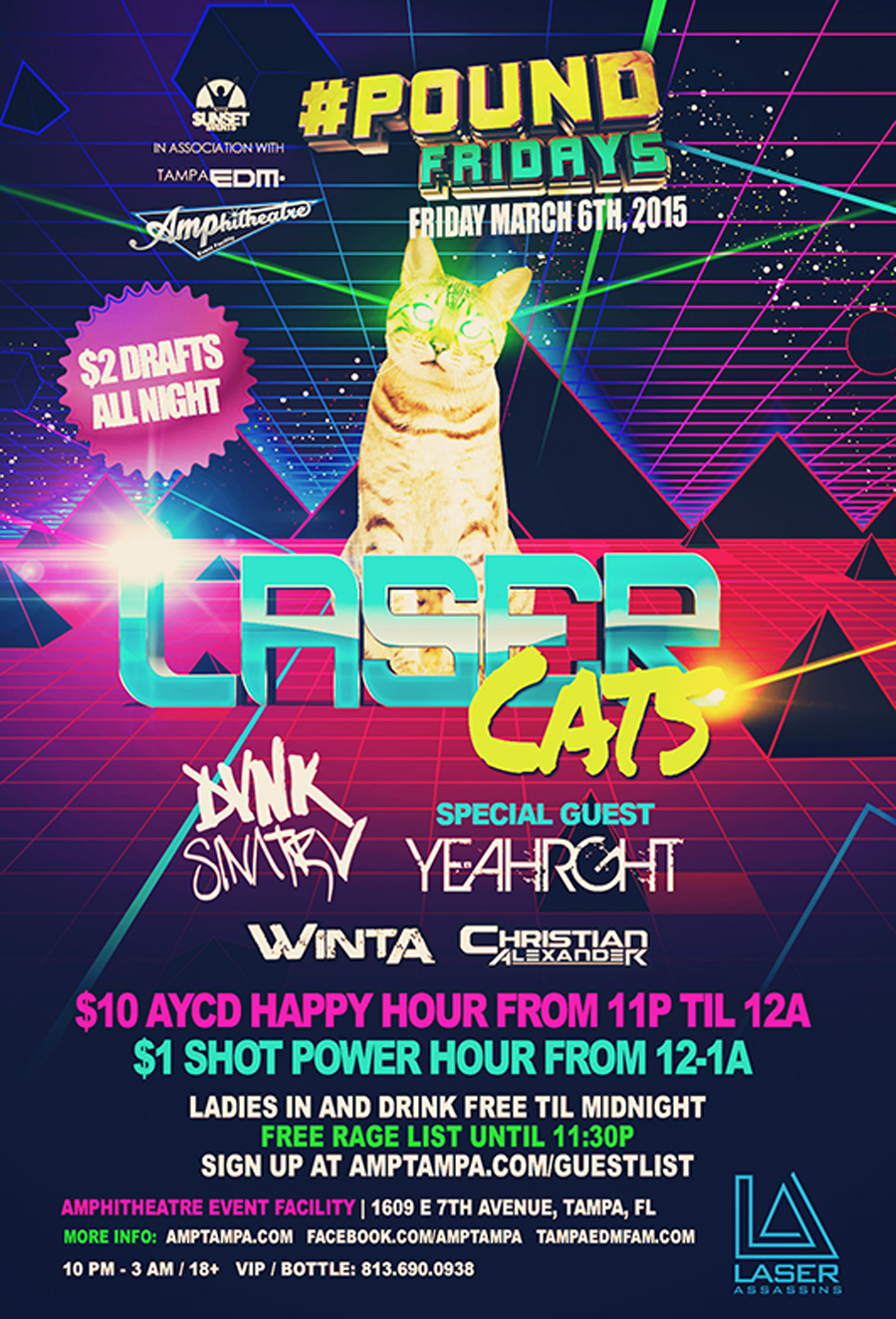 Laser Cats at #POUND Fridays with DVNK SINATRV