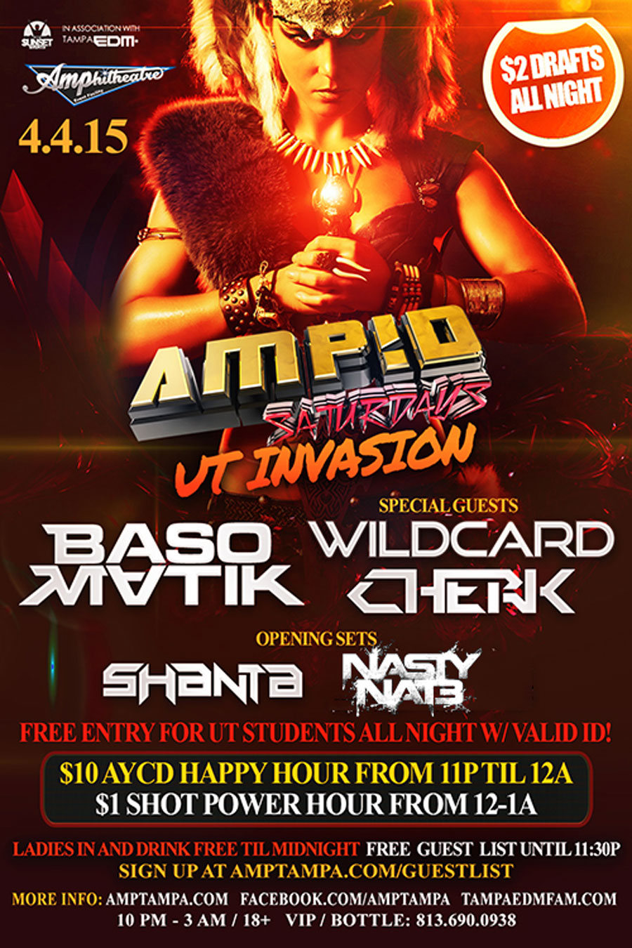 UT INVASION @ AMP!D Saturdays 4/4/15
