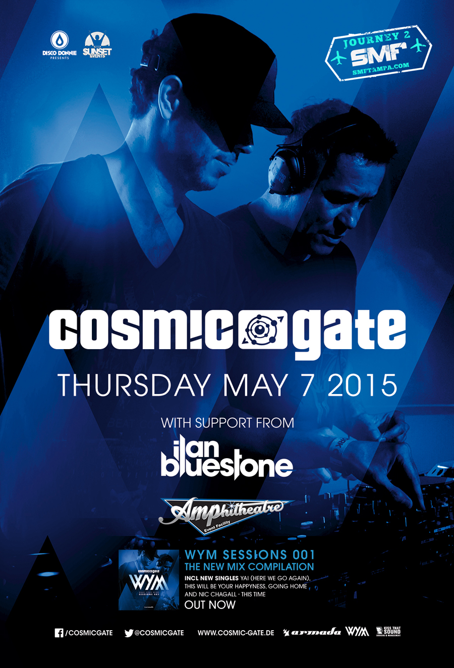 Cosmic Gate & Ilan Bluestone at The AMP 5/7/15