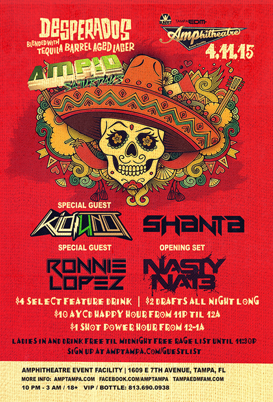 Desperados Beer at AMP!D Saturdays – 4/11/15