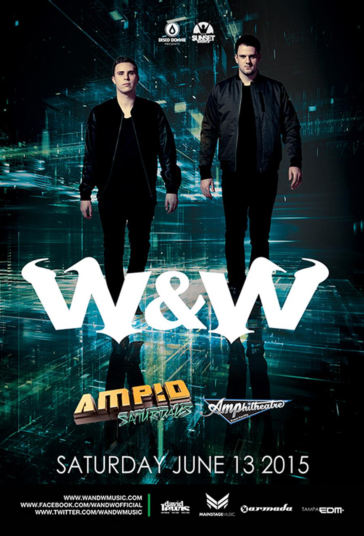 W&W at AMP!D Saturdays – June 13, 2015