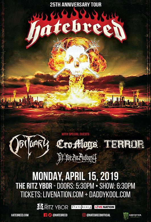 Hatebreed at The RITZ Ybor – 4/15/2019