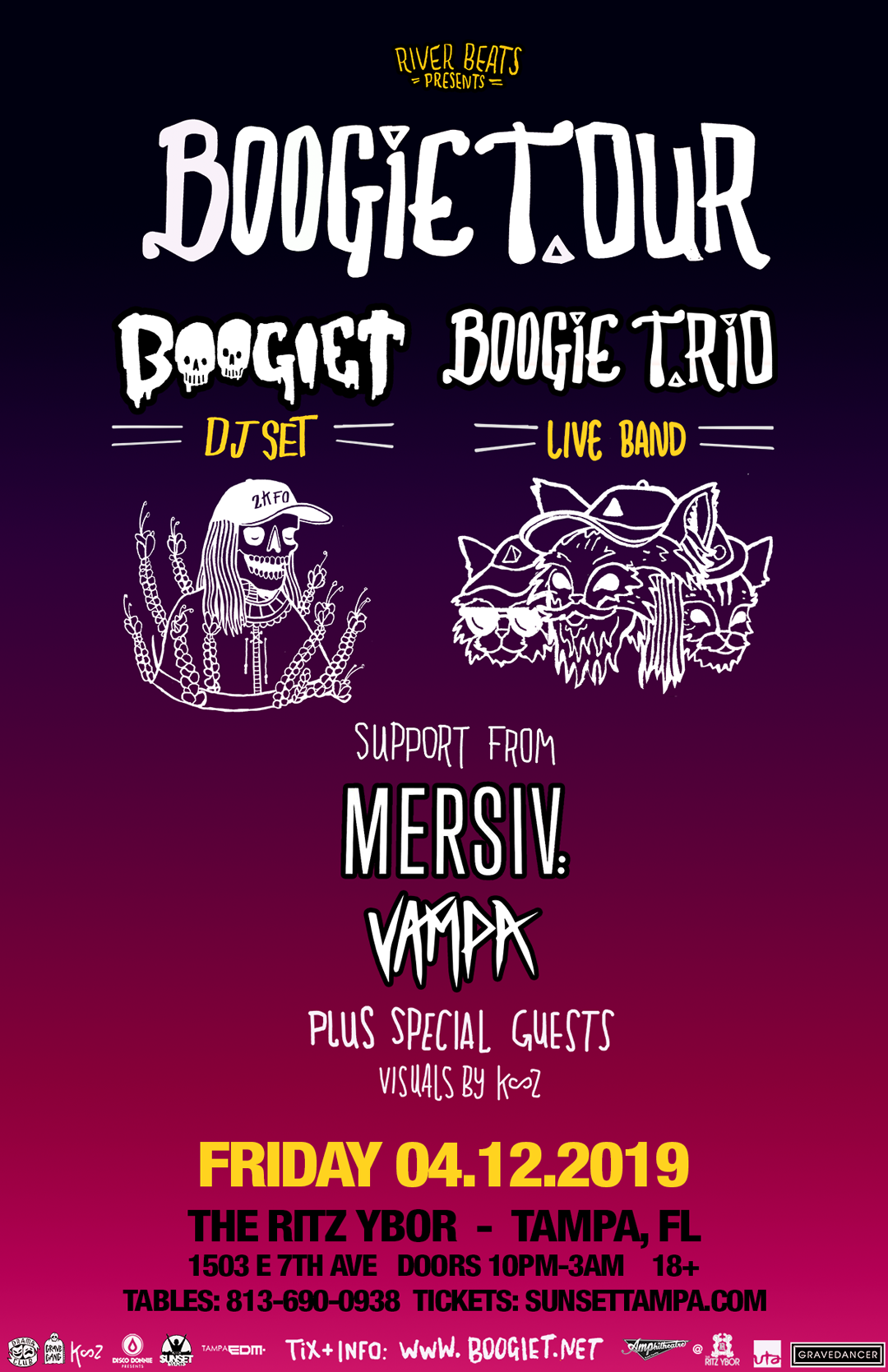 Boogie T.rio – Boogie T.our – #POUND Fridays at The RITZ Ybor – 4/12/2019