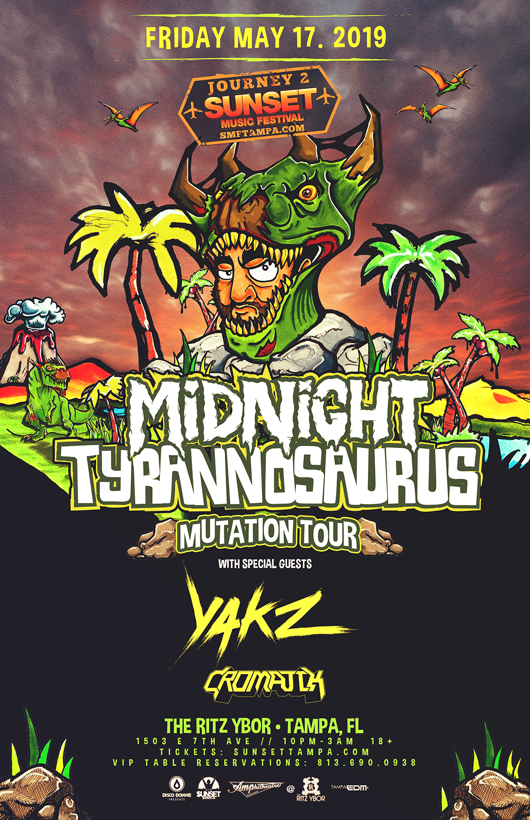 Midnight Tyrannosaurus – Mutation Tour – #POUND Fridays at The RITZ Ybor – 5/17/2019