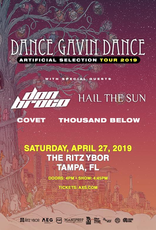 Dance Gavin Dance • Artificial Selection Tour 2019 at The RITZ Ybor – 4/27/2019