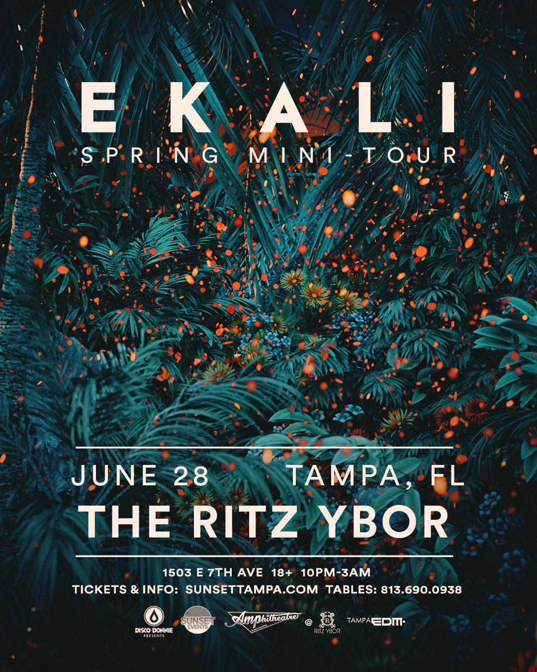Ekali – Spring Mini-Tour – #POUND Fridays at The RITZ Ybor – 6/28/2019