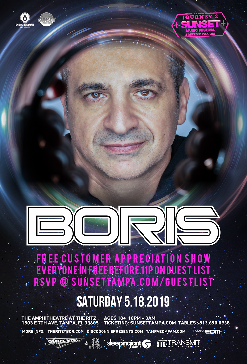 Boris – Free Guest List – Sunset Saturdays at The RITZ Ybor – 5/18/2019