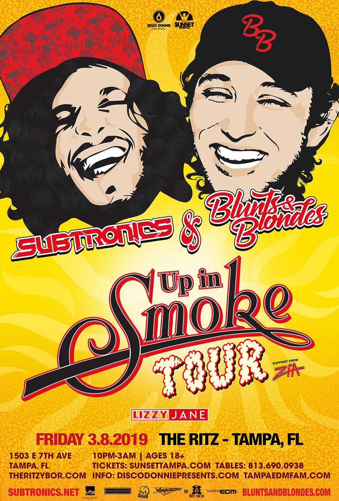 Subtronics + Blunts & Blondes – Up In Smoke Tour – #POUND Fridays at The RITZ Ybor – 3/8/2019