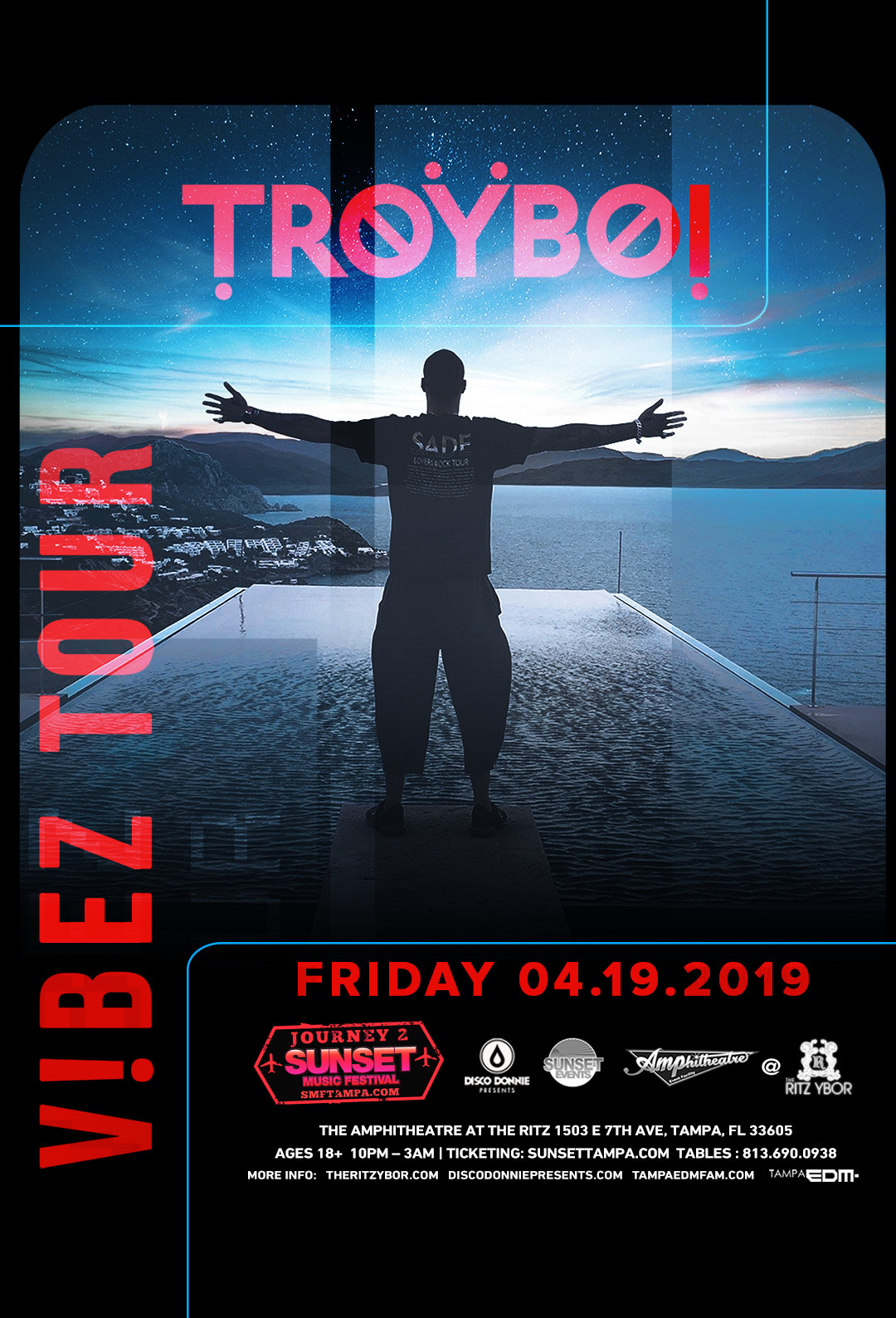 TroyBoi – Vibez Tour – Journey 2 Sunset Music Festival – #POUND Fridays at The RITZ Ybor – 4/19/2019