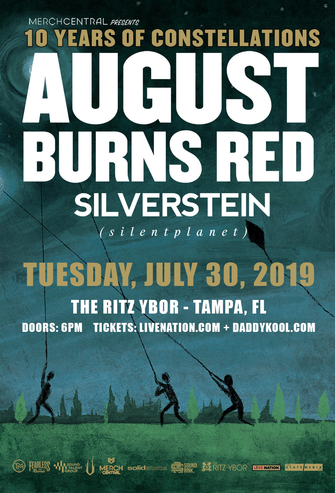 August Burns Red: 10 Years of Constellations Tour at The RITZ Ybor – 7/30/2019