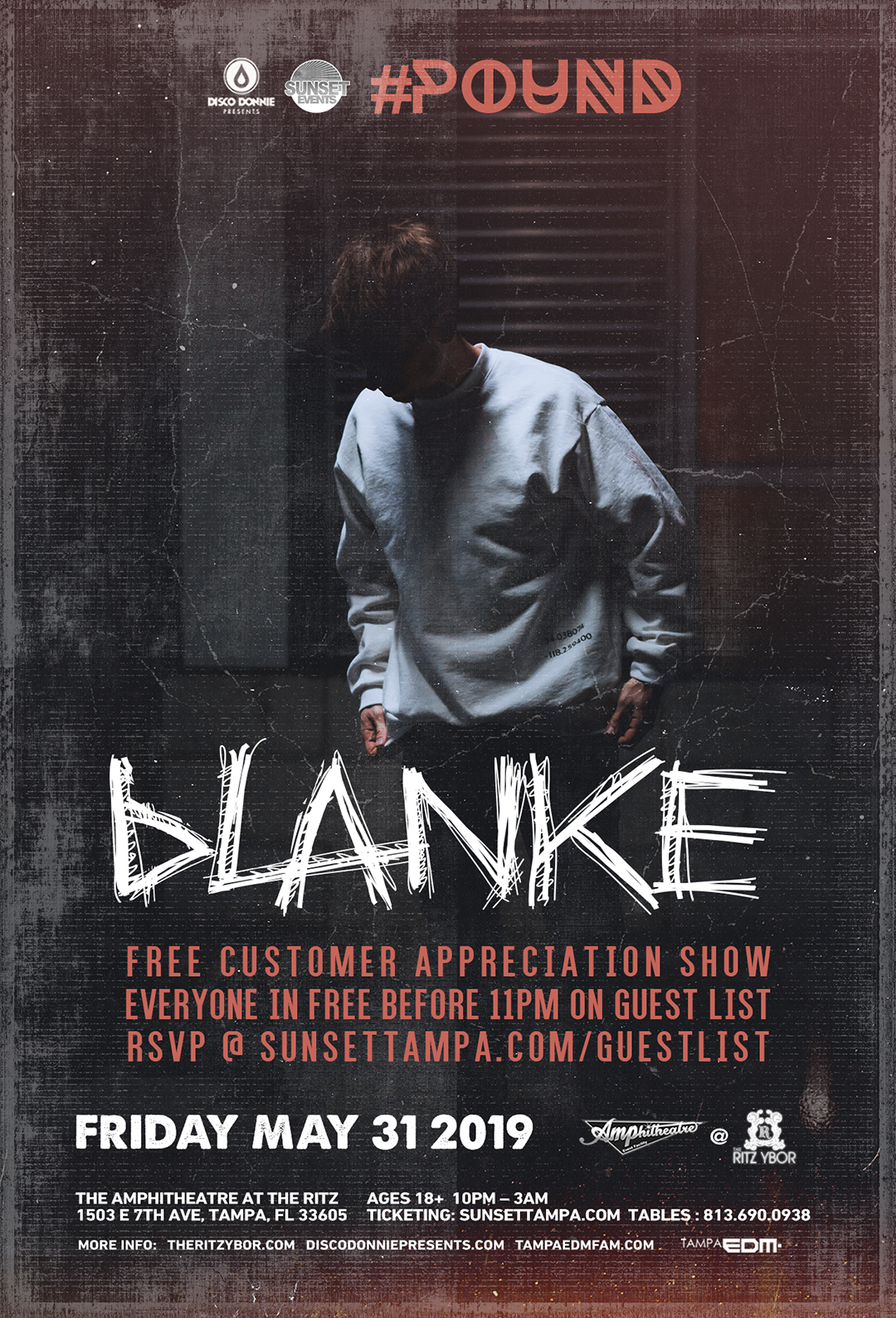 Blanke – #POUND Fridays at The RITZ Ybor – 5/31/2019