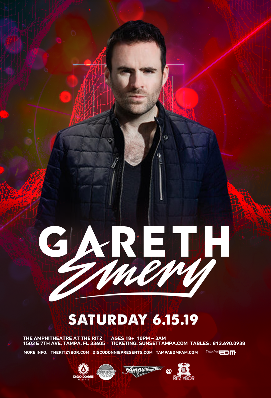 Gareth Emery – Sunset Saturdays at The RITZ Ybor – 6/15/2019