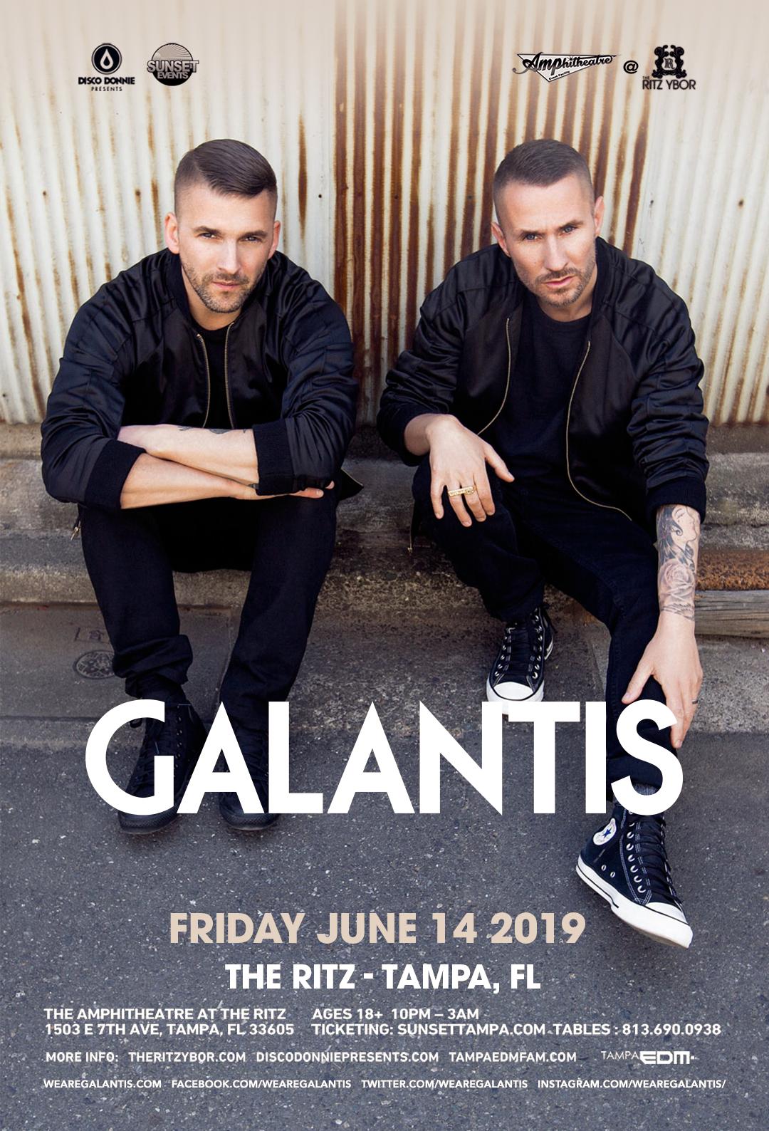 Galantis – #POUND Fridays at The RITZ Ybor – 6/14/2019