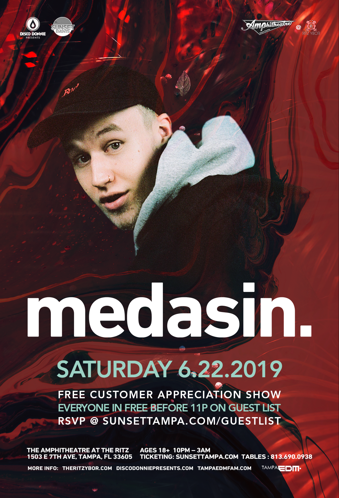 Medasin – Sunset Saturdays at The RITZ Ybor – 6/22/2019