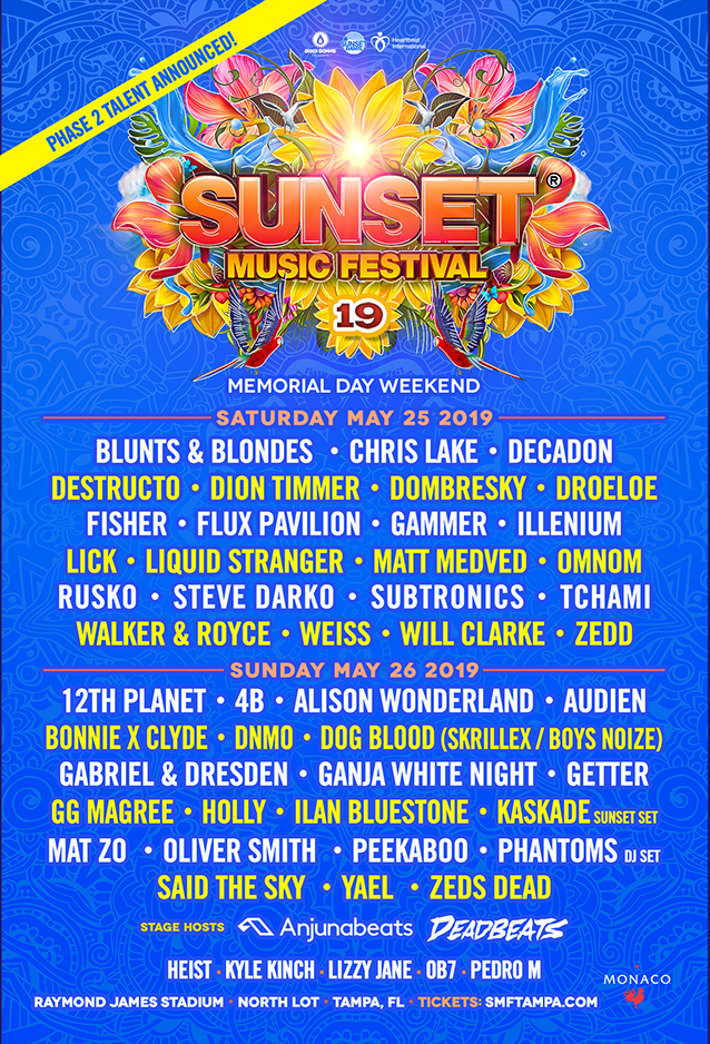 Sunset '19 Music Festival – Memorial Day Weekend – Day 2 – Raymond James Stadium – 5/26/2019