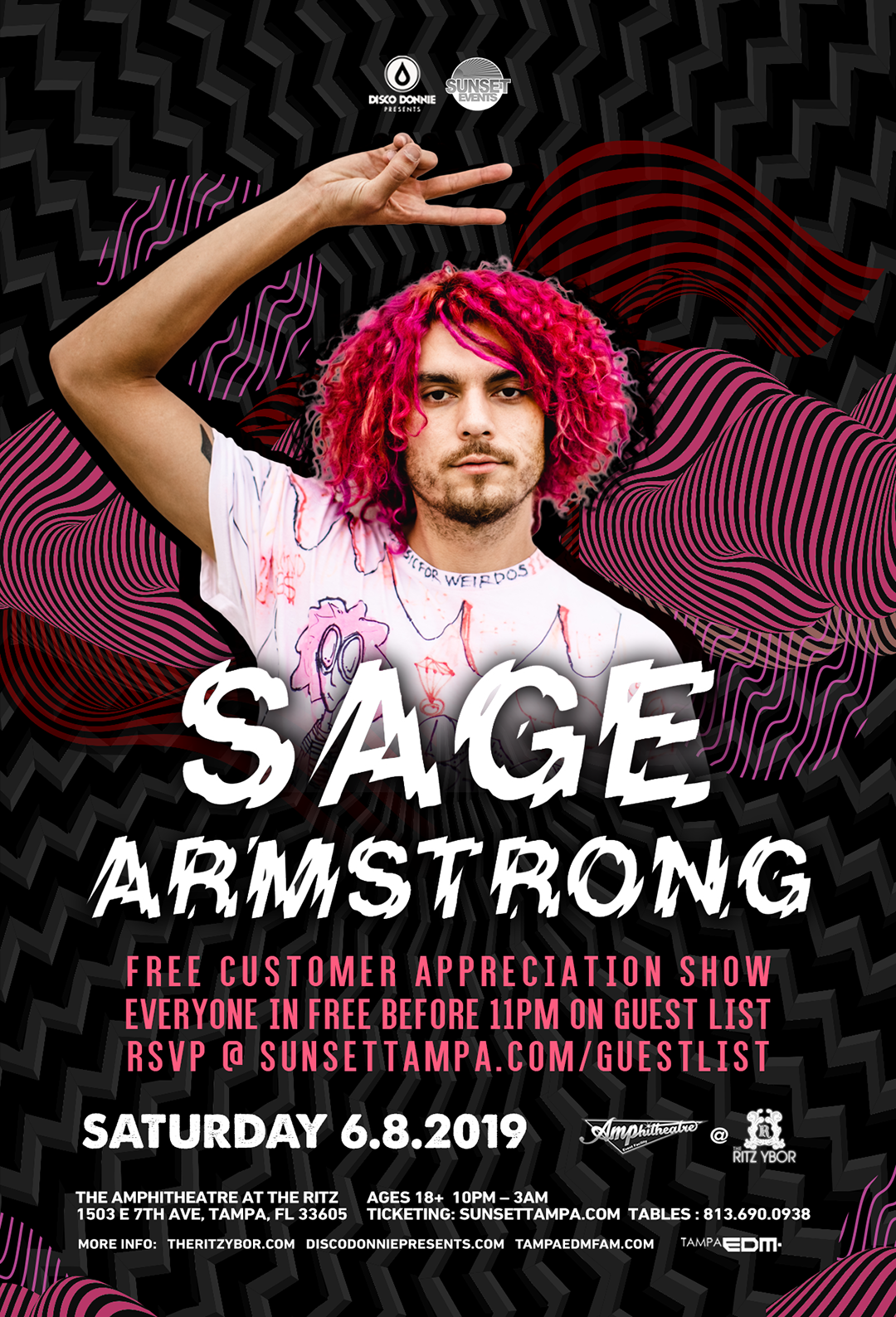 Sage Armstrong – Free Guest List – #POUND Fridays at The RITZ Ybor – 6/8/2019