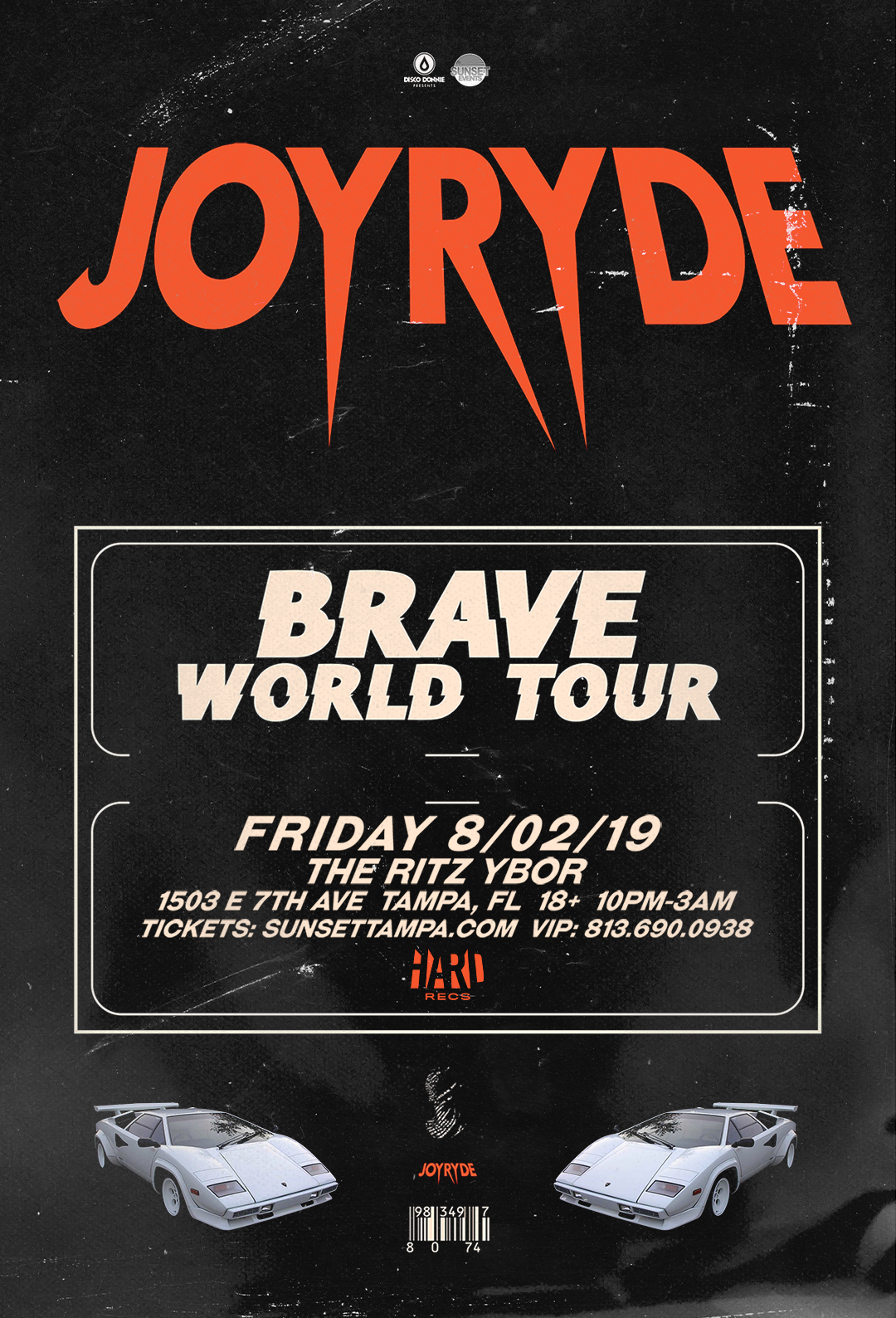 Joyryde – Brave World Tour – #POUND Fridays at The RITZ Ybor – 8/2/2019