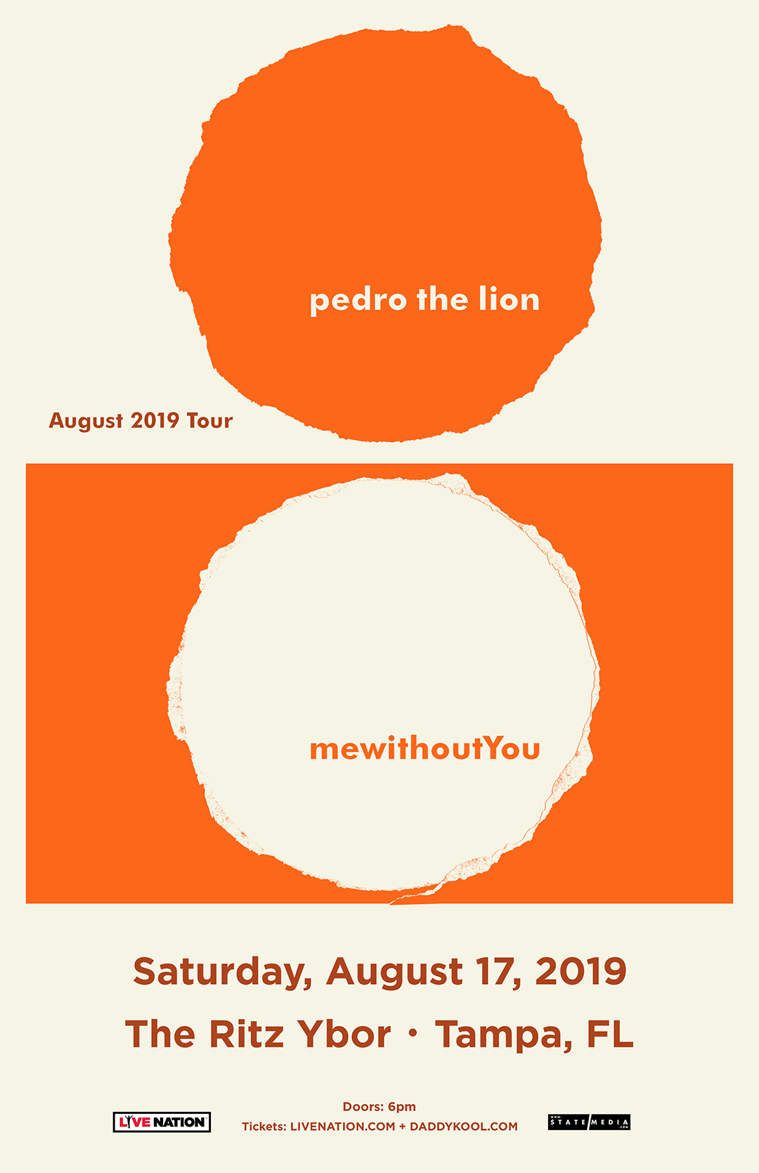 Pedro the Lion | mewithoutYou at The RITZ Ybor – 8/17/2019