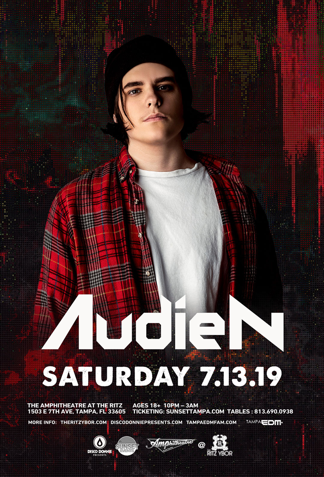 Audien – Sunset Saturdays at The RITZ Ybor – 7/13/2019