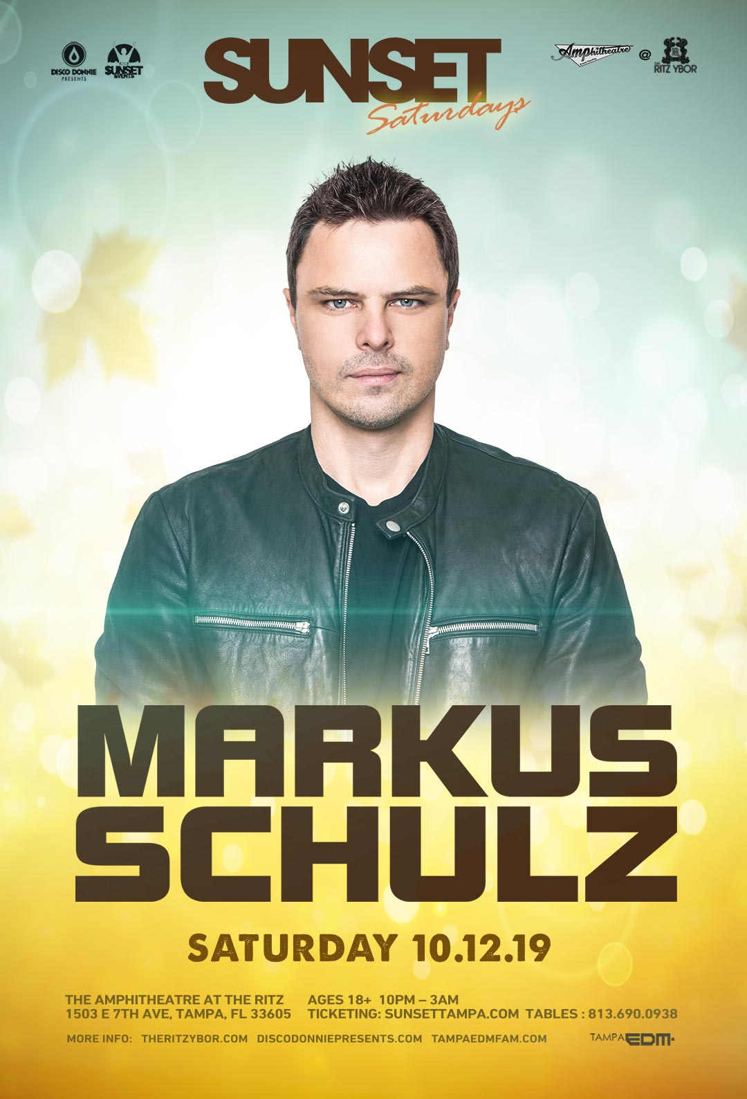 Markus Schulz – Sunset Saturdays at The RITZ Ybor – 10/12/2019