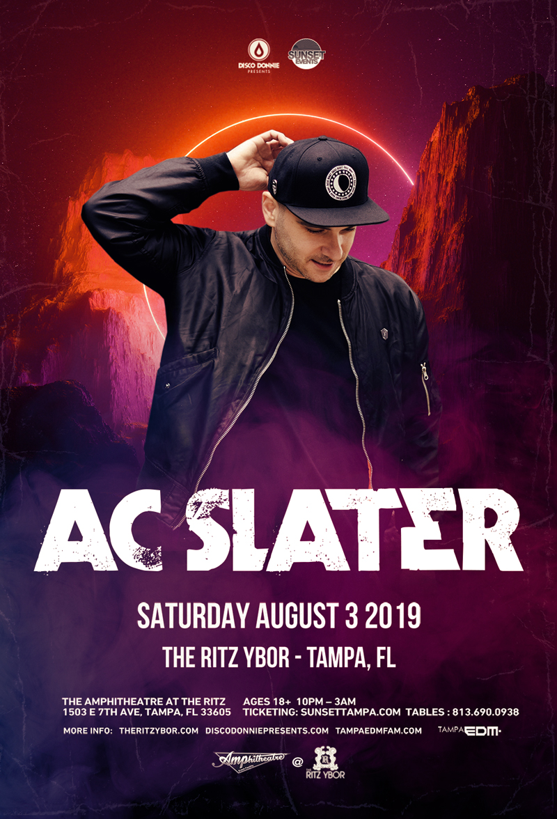 AC SLATER – Sunset Saturdays at The RITZ Ybor – 8/3/2019