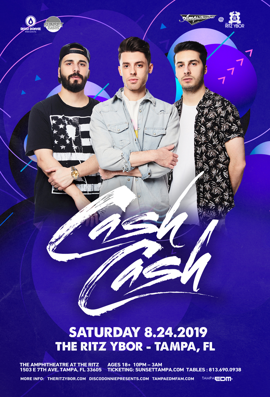 Cash Cash – Sunset Saturdays at The RITZ Ybor – 8/24/2019