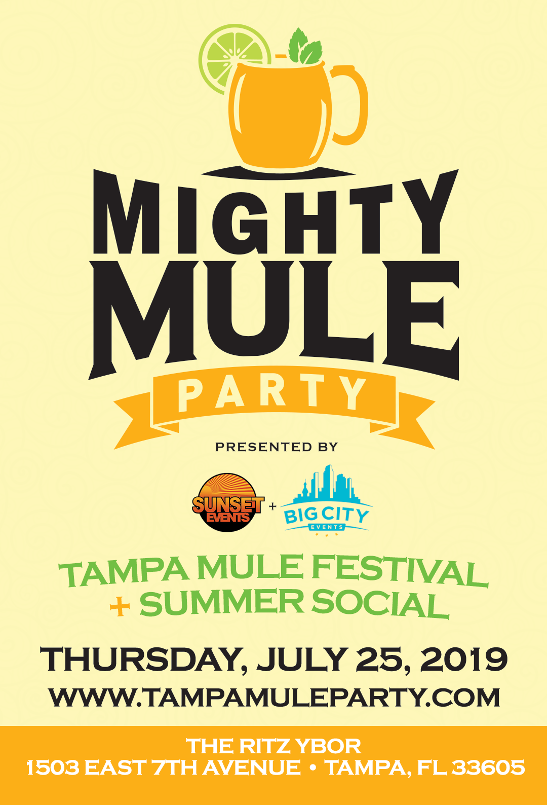The Mighty Mule Party: Tampa Mule Festival + Summer Social at The RITZ Ybor – 7/25/2019
