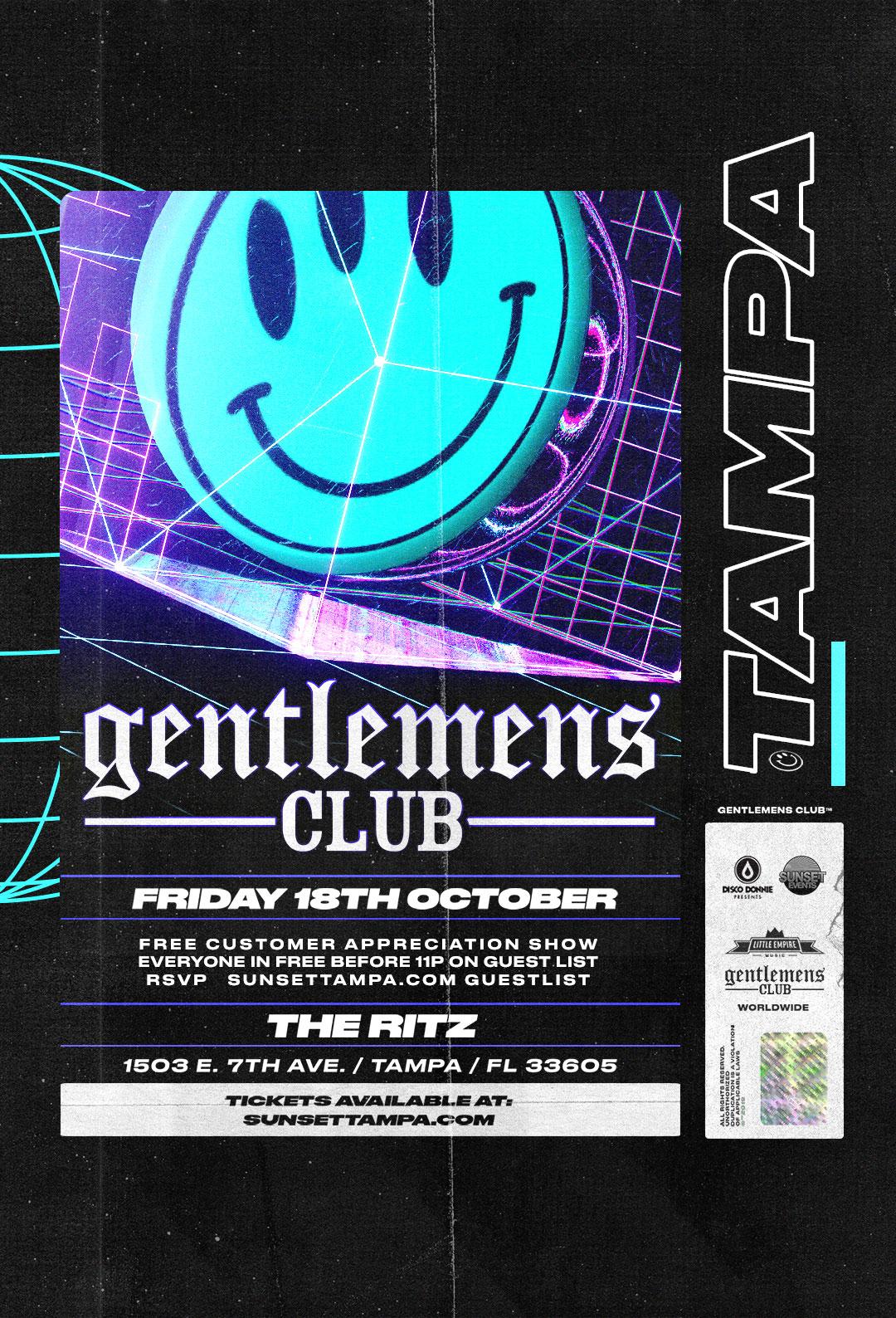 Gentlemens Club – #Pound Fridays at The RITZ Ybor – 10/18/2019