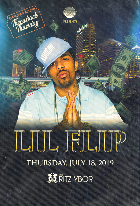 Lil' Flip – Throwback Thursday at The RITZ Ybor – 7/18/2019