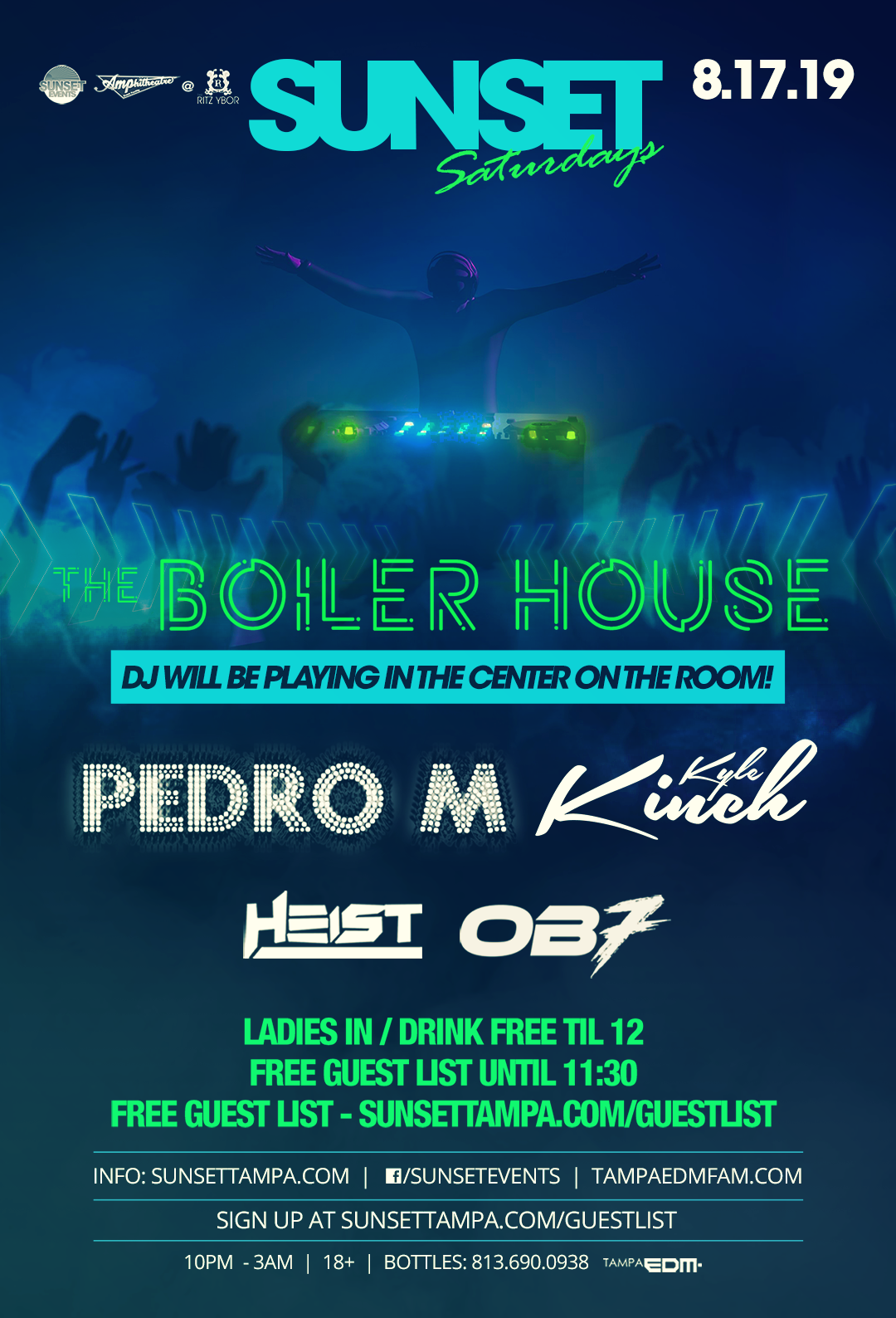 The Boiler House – Sunset Saturdays at The RITZ Ybor – 8/17/2019