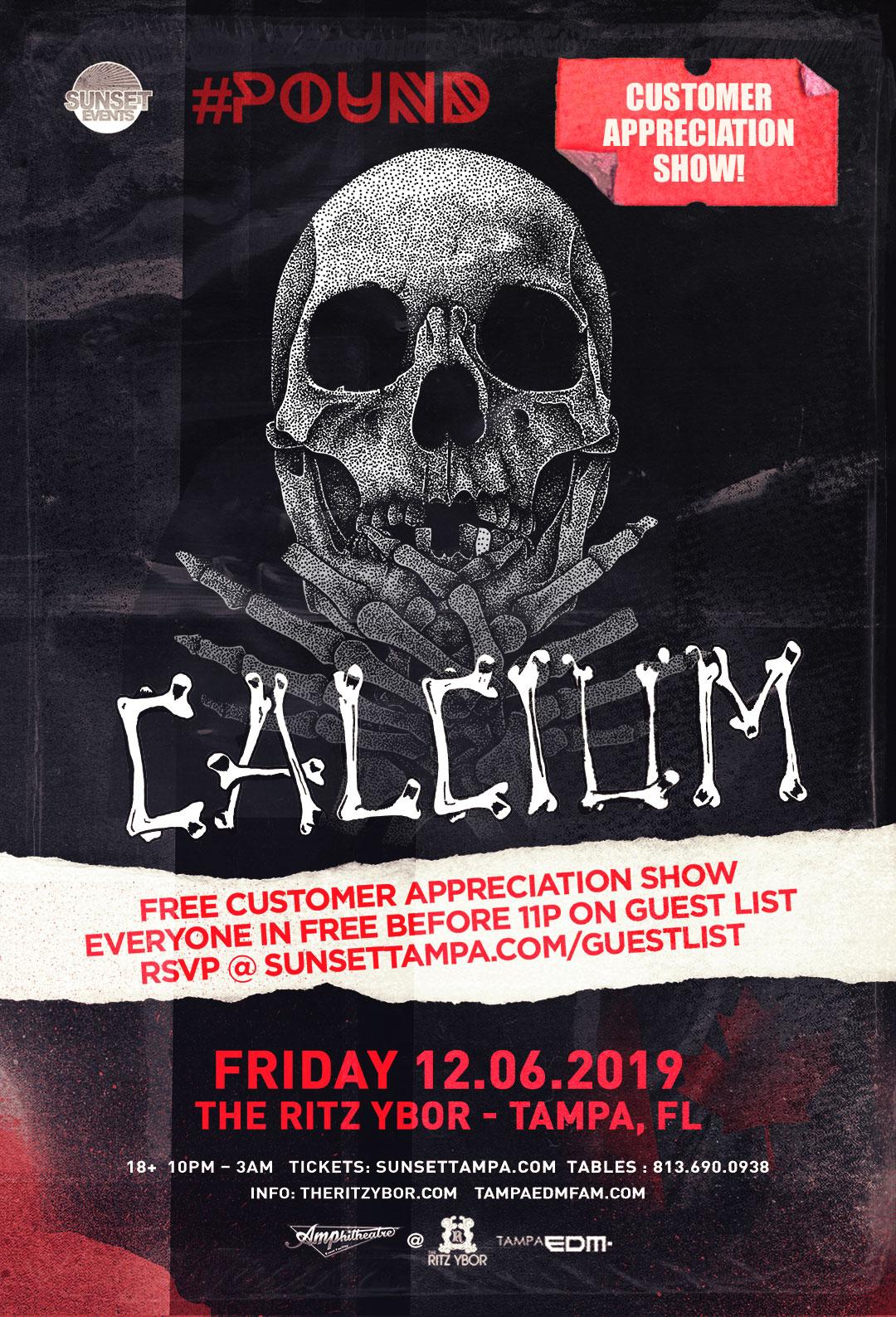 Calcium – #POUND Fridays at The RITZ Ybor – 12/6/2019