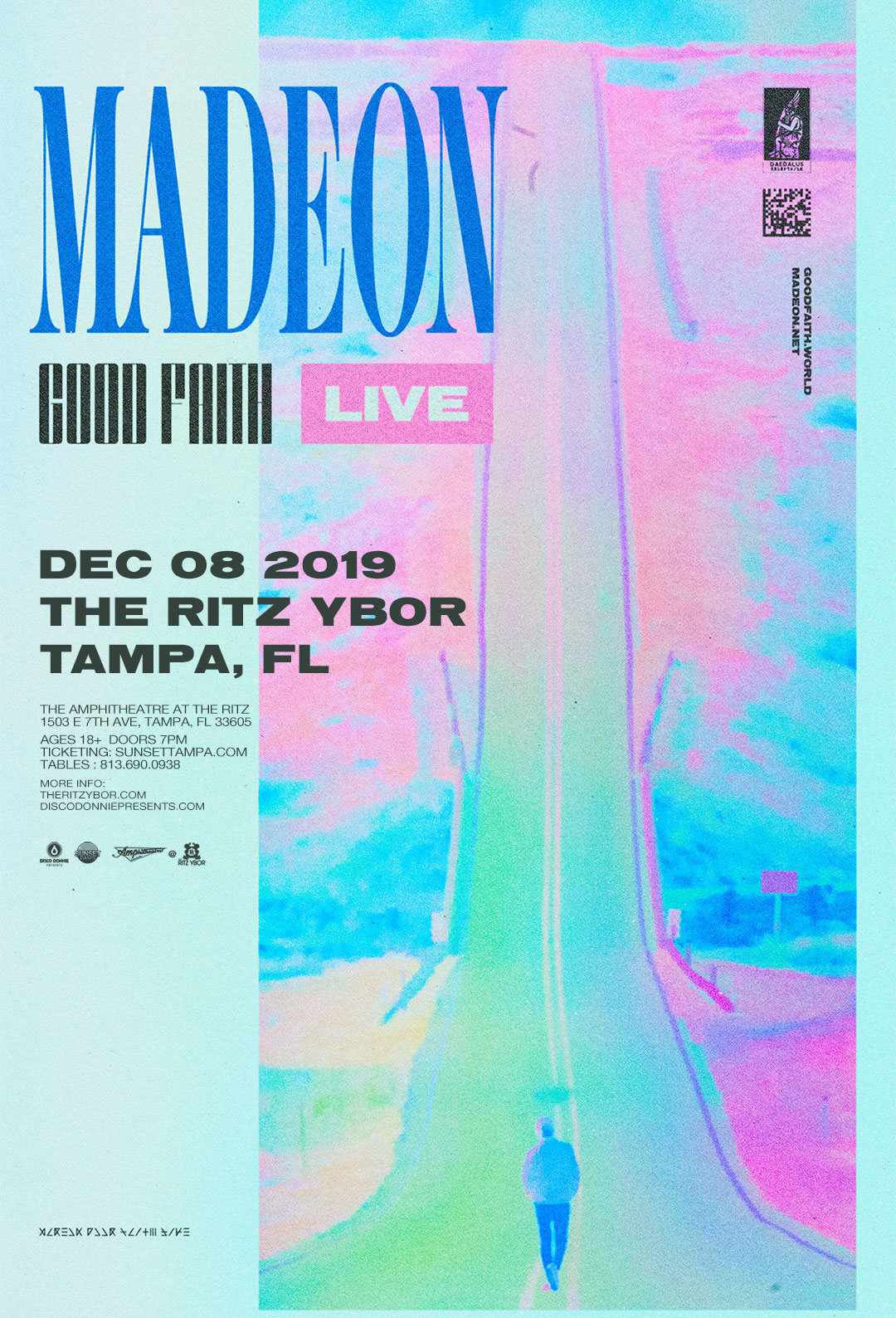 Madeon – Good Faith Live – at The RITZ Ybor – 12/8/2019