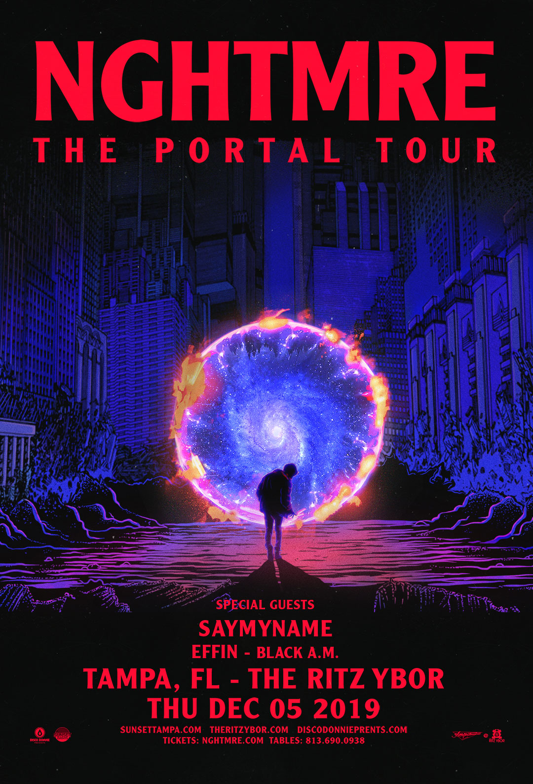 NGHTMRE – The Portal Tour – at The RITZ Ybor – 12/5/2019