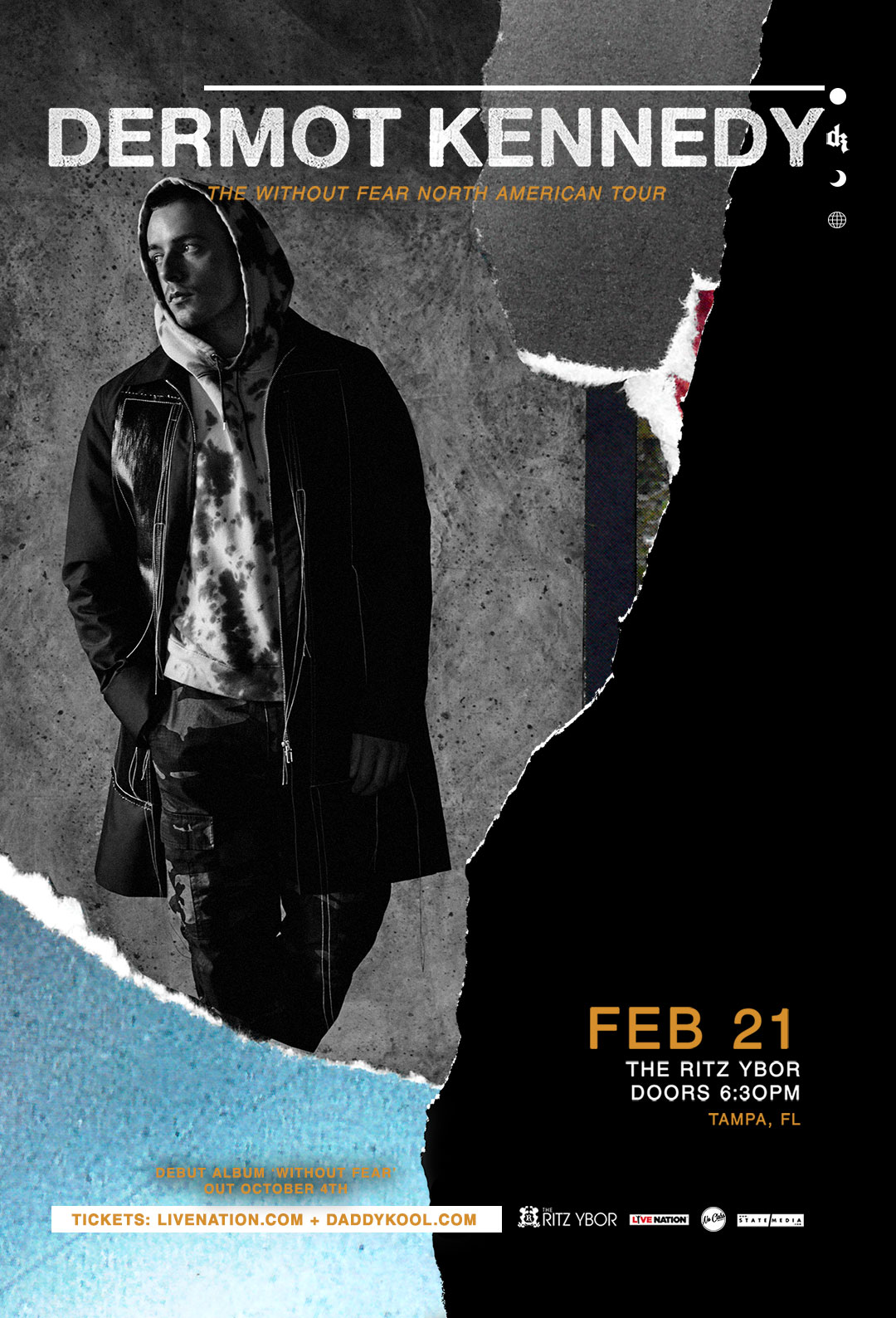 Dermot Kennedy: Without Fear Tour at The RITZ Ybor – 2/21/2020