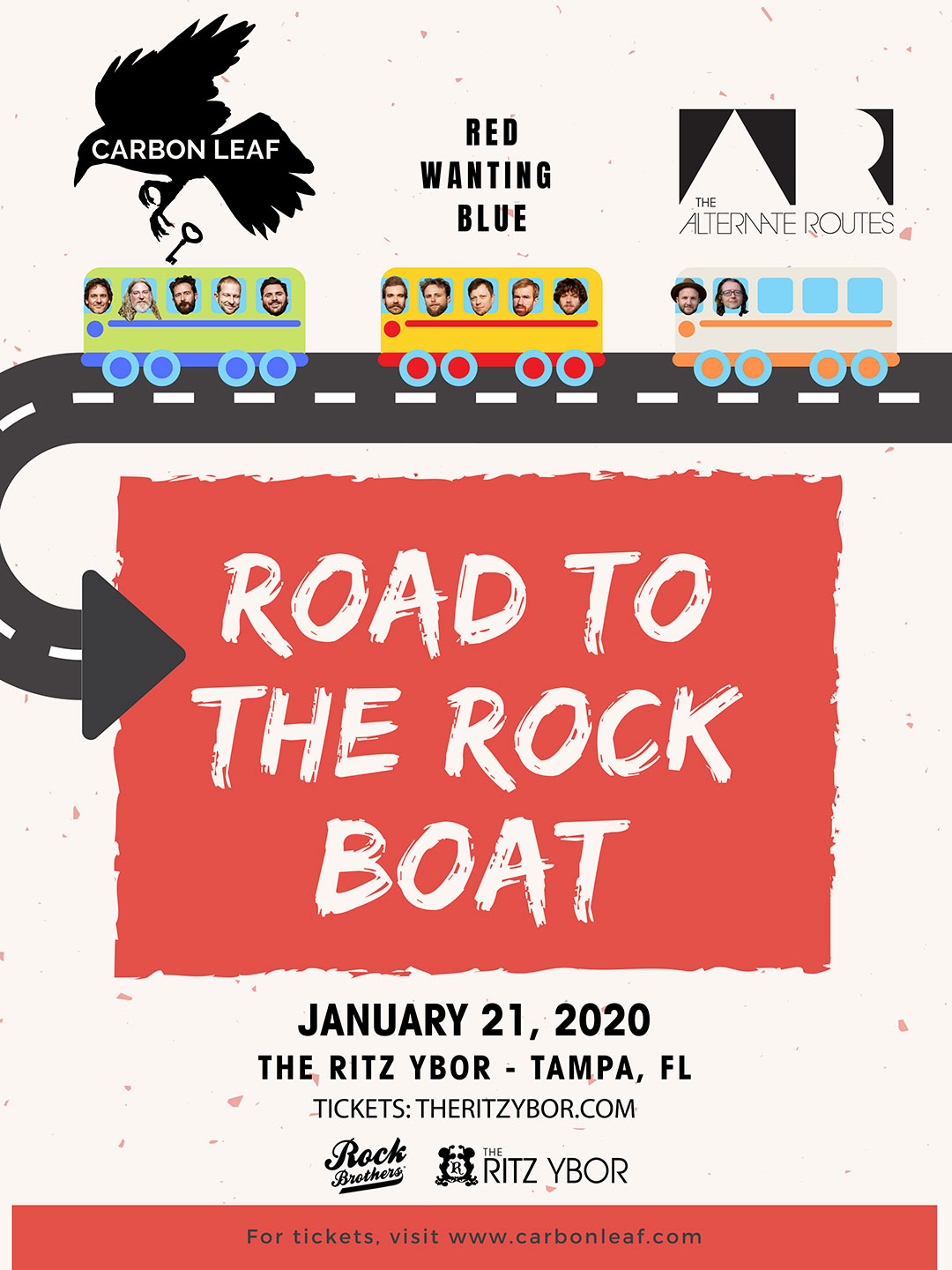 Red Wanting Blue, Carbon Leaf & The Alternate Routes – Road to Rock The Boat at The RITZ Ybor – 1/21/2020