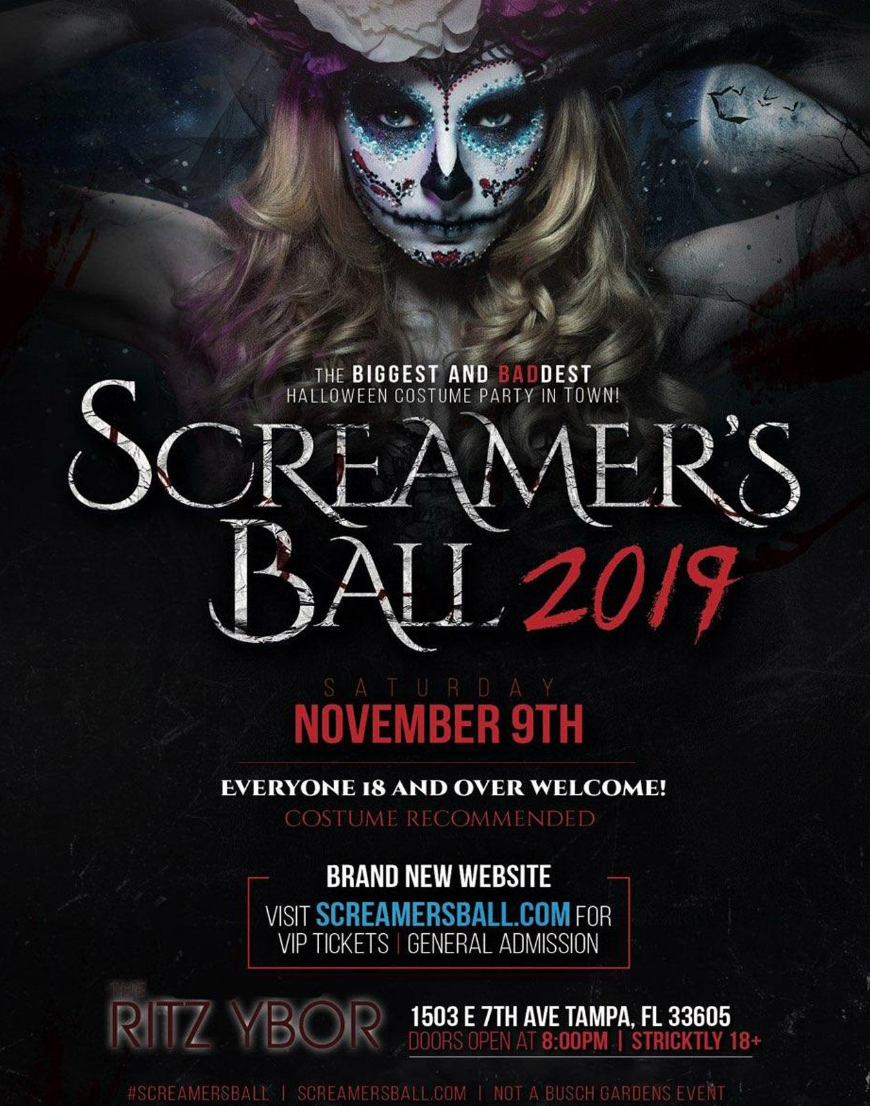 Screamer's Ball 2019 at The RITZ Ybor – 11/9/2019