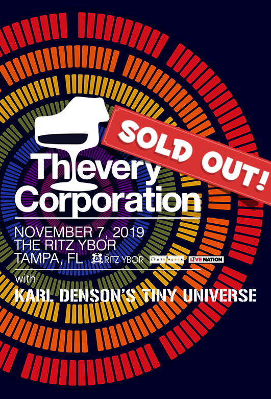 Thievery Corporation at The RITZ Ybor – 11/7/2019