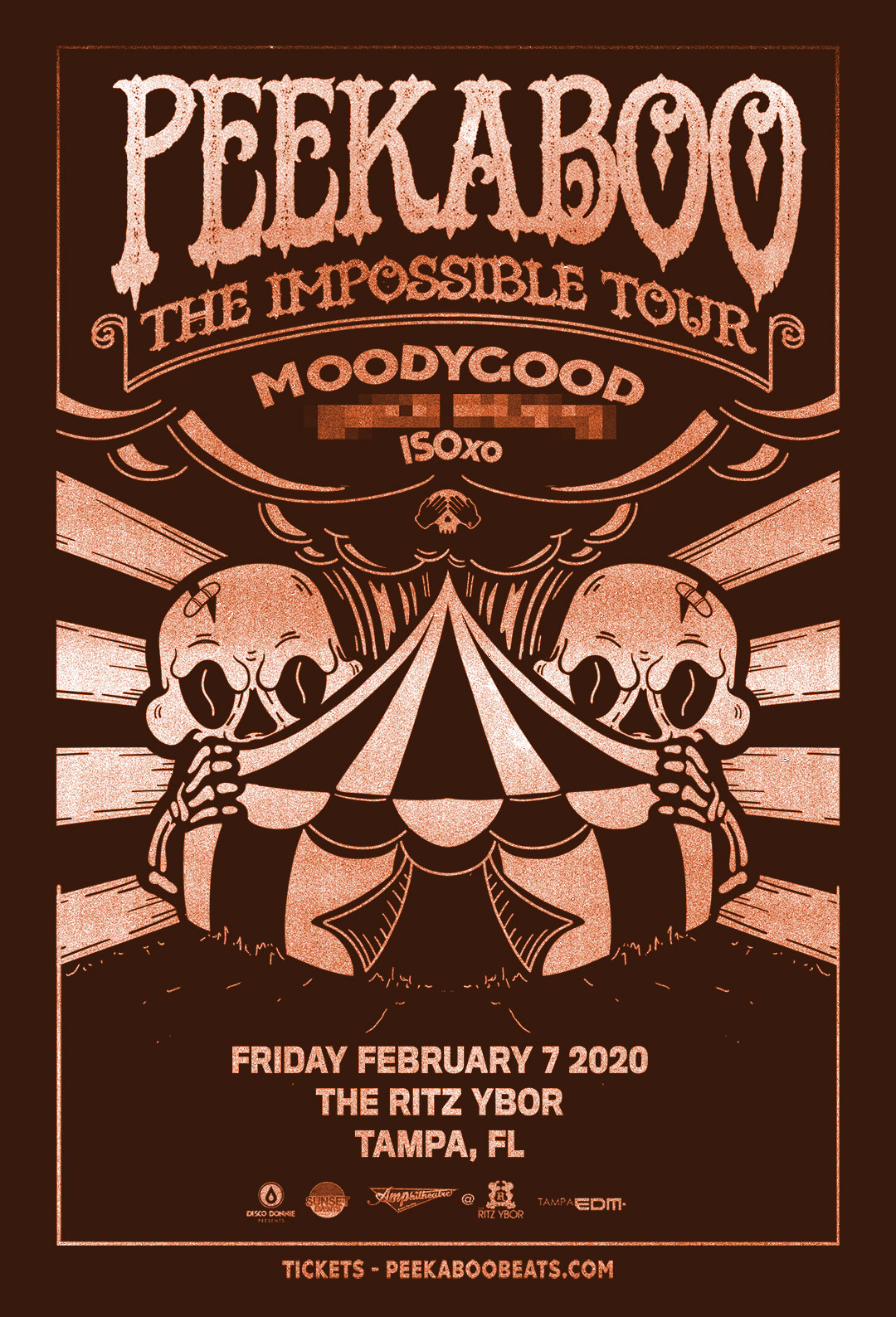 The Impossible Tour with PEEKABOO at The RITZ Ybor – 2/7/2020