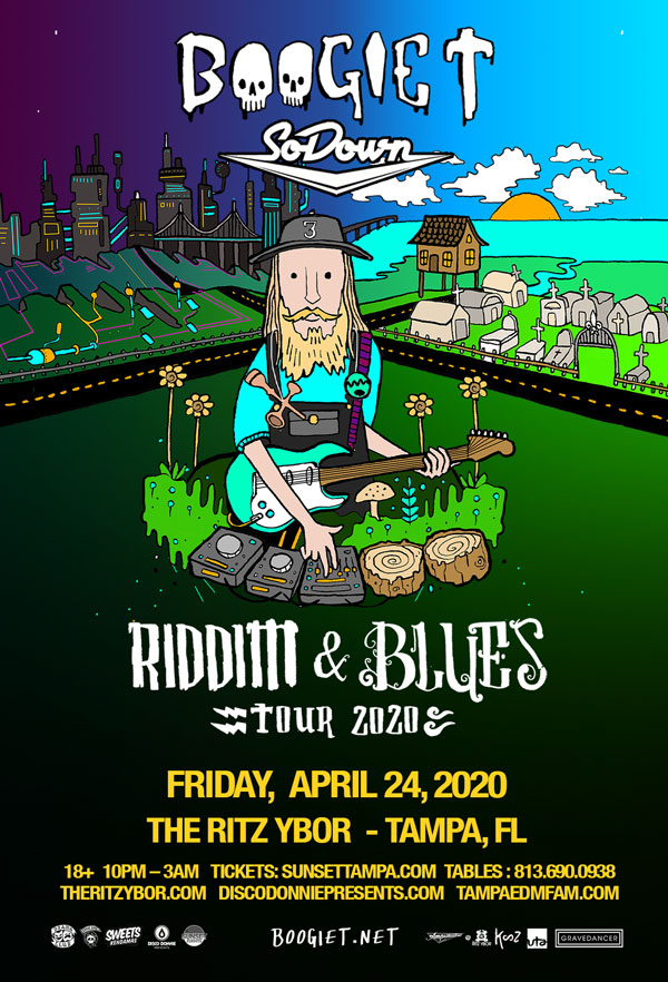 Boogie T – Riddim and Blues Tour – #POUND Fridays at The RITZ Ybor – 4/24/2020