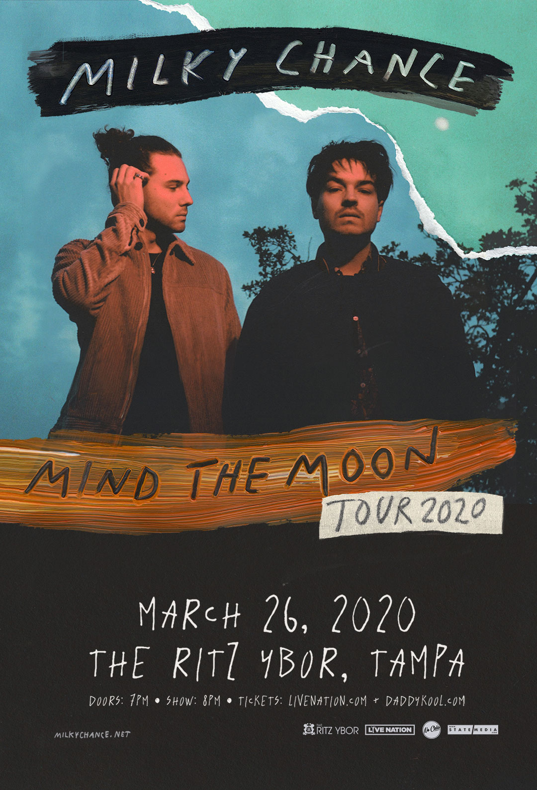 Milky Chance – Mind The Moon Tour 2020 at The RITZ Ybor – 3/26/2020