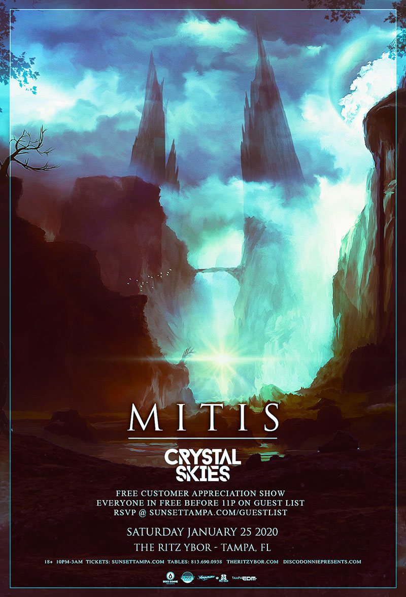 Mitis – Shattered Tour – Free Guest List – Sunset Saturdays at The RITZ Ybor – 1/25/2020
