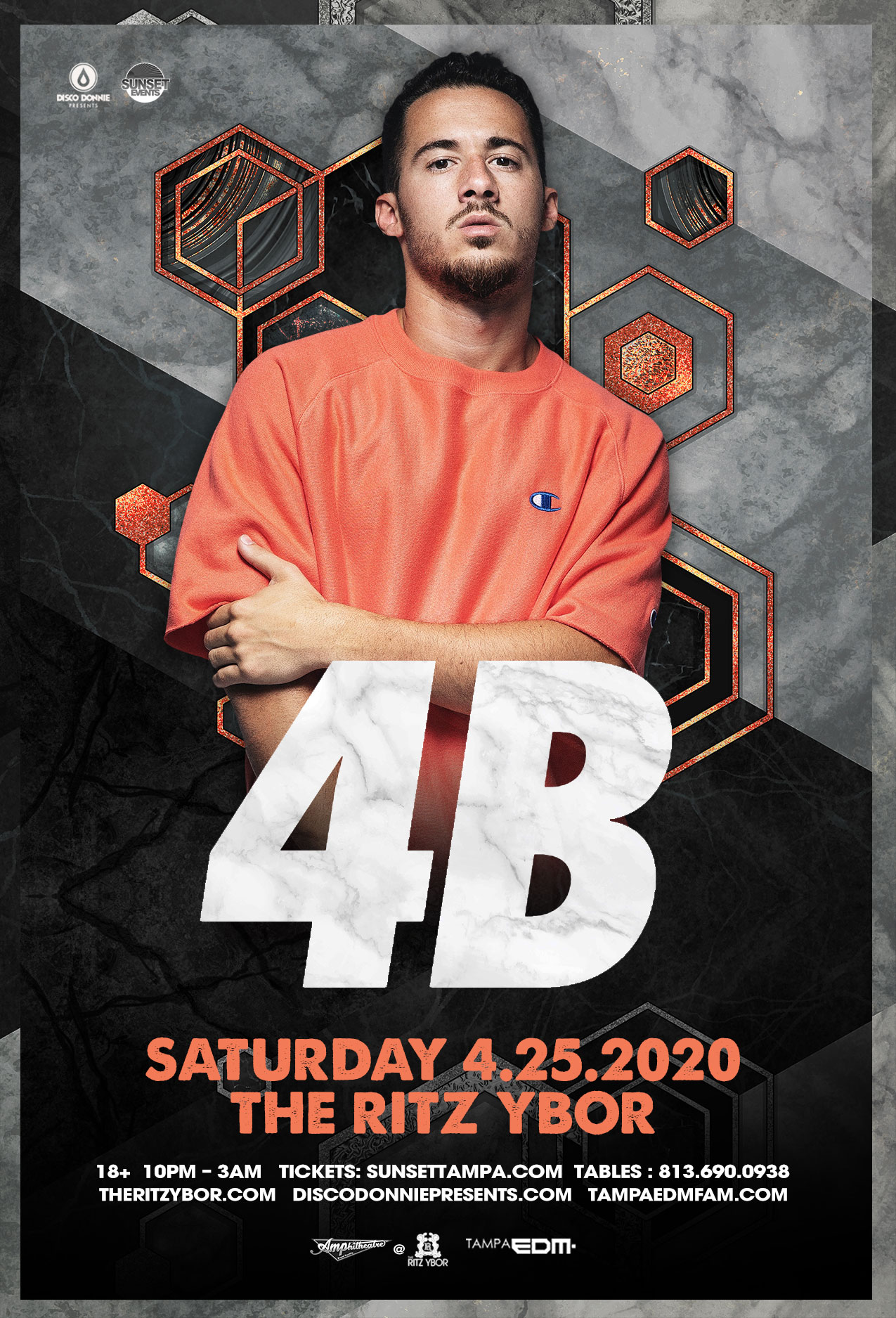4B – Sunset Saturdays at The RITZ Ybor – 4/25/2020