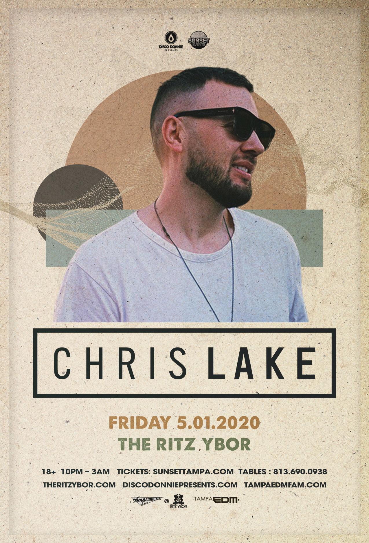 Chris Lake – #POUND Fridays at The RITZ Ybor – 5/1/2020