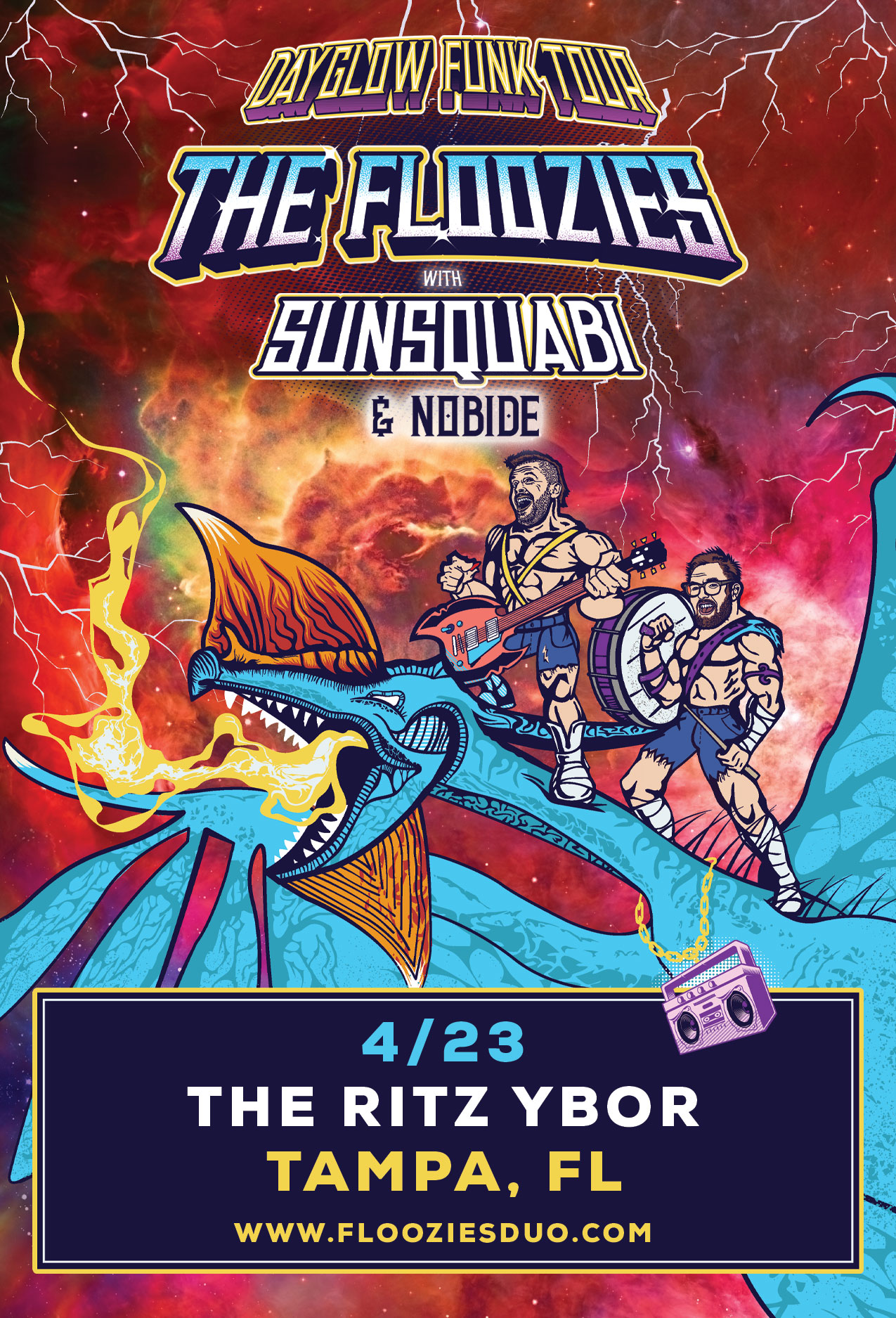 The Floozies – Dayglow Funk Tour with Sunsquabi + Nobide at The RITZ Ybor – 4/23/2020