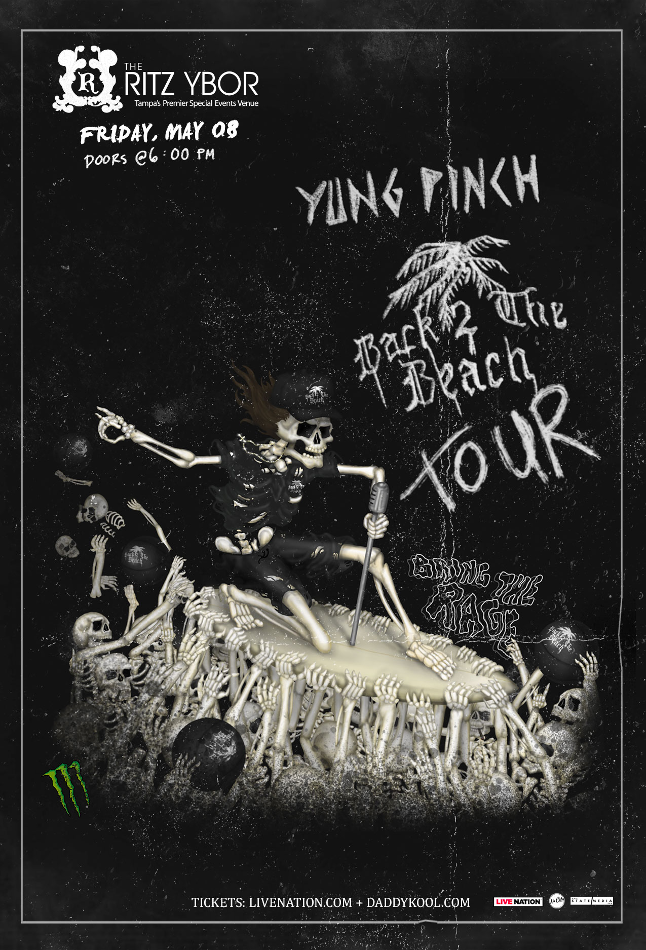 Yung Pinch – Back 2 The Beach Tour at The RITZ Ybor – 5/8/2020