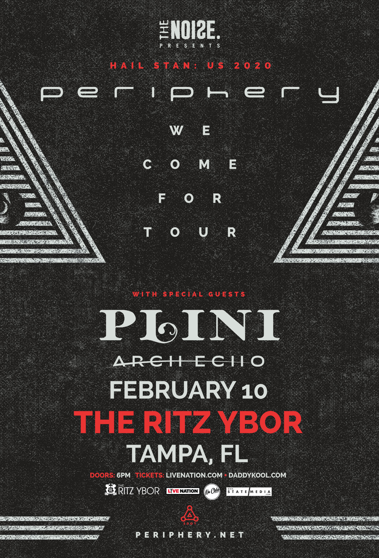 The Noise Presents Periphery – Hail Stan: North America 2020 at The RITZ Ybor – 2/10/2020