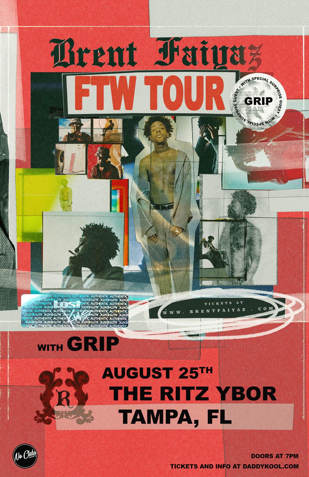 Brent Faiyaz – Fuck The World Tour at The RITZ Ybor – 8/25/2020