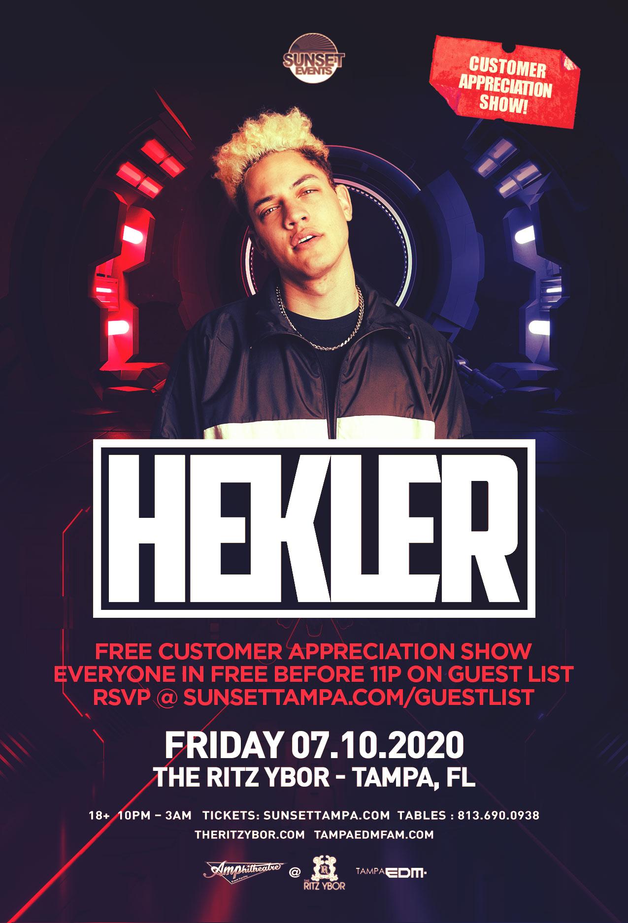 Tampa Bay Sunset Smile Halloween 2020 HEKLER   #POUND Fridays at The RITZ Ybor   7/10/2020   Sunset