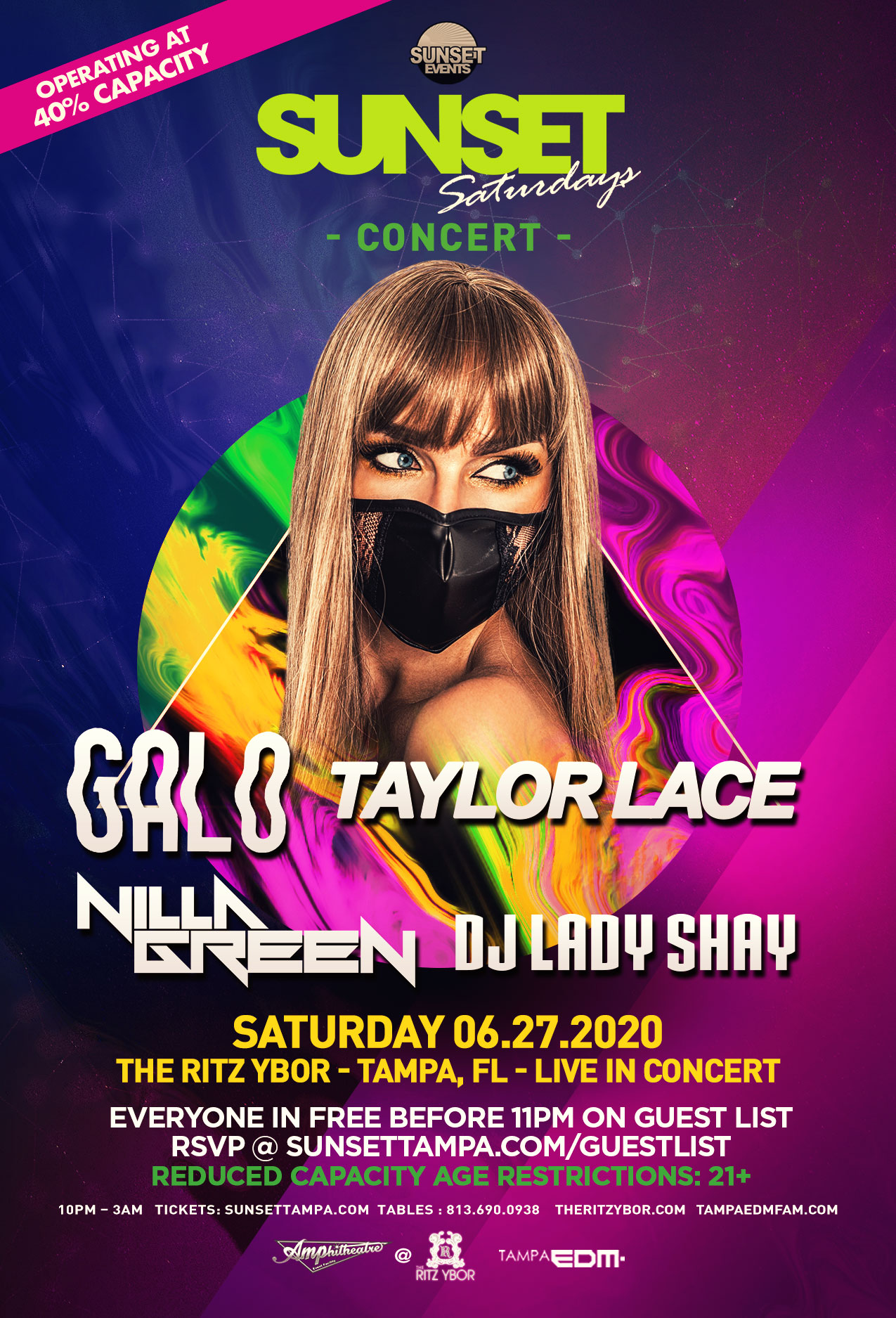Sunset Saturdays in Concert at The RITZ Ybor – 6/27/2020